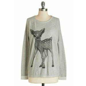 Modcloth deer sweatshirt
